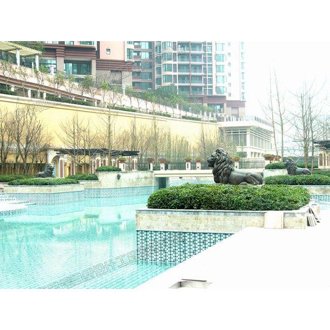 小区狮子雕塑/景观雕塑设计/贵州雕塑厂家