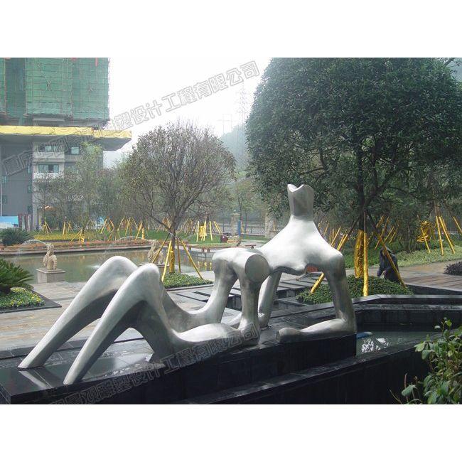 抽象人物雕塑/小区抽象雕塑/重庆地产雕塑