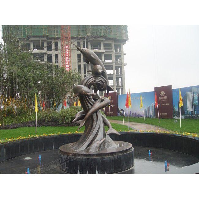 动物海豚雕塑/重庆小区雕塑/重庆地产雕塑