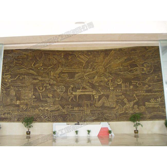 大堂装饰性浮雕壁画/酒店浮雕壁画/贵州雕塑设计公司