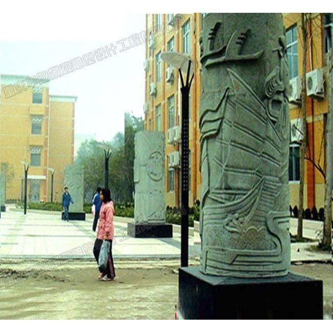 校园广场雕塑/校园文化柱雕塑/重庆雕塑公司