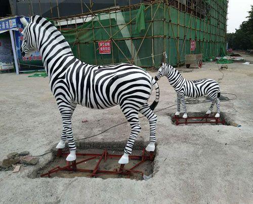 斑马雕塑价格/重庆雕塑工厂/重庆动物雕塑厂家
