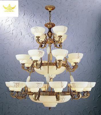 酒店工程灯具欧式复古风格云石灯图片