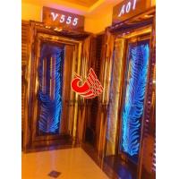 卡拉OK厅杭艺香槟金包房门  KTV不锈钢工艺门