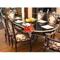 西餐厅豪华布艺餐椅 优质实木美老湿影院48试餐桌 休闲餐厅单人餐厅沙发椅