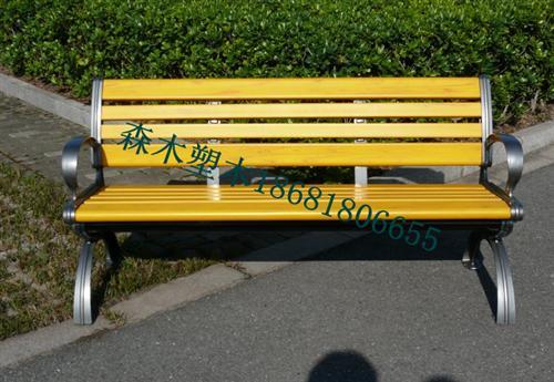 铁门关塑木地板园林椅_铁门关护栏廊架公园椅休闲椅