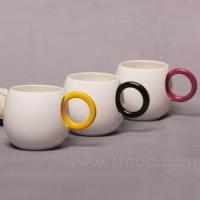 陶瓷小太阳水杯 广告杯会议杯礼品杯