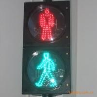 人行横道灯 绿色5步动态小人 交通信号灯