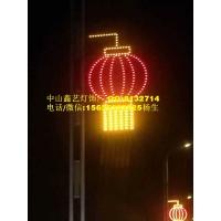 街道路灯_灯笼装饰灯亮化灯_中国结路灯杆造型灯