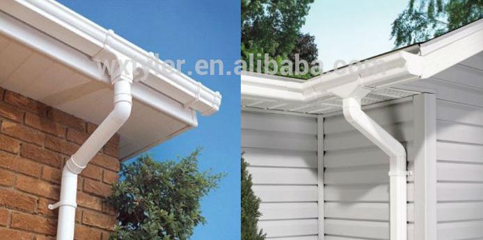塑料白色pvc雨水管檐槽天沟雨水方形下水管