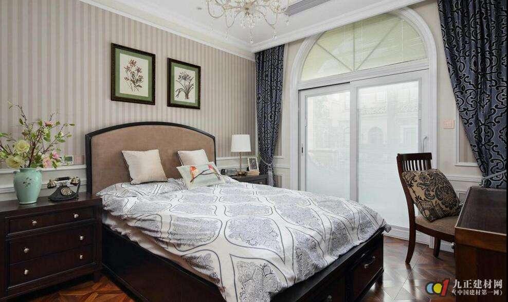 新中式溫婉臥室紅木家具裝修效果圖