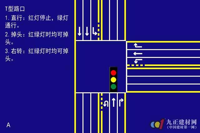道路交通信号灯在T型路口怎样看