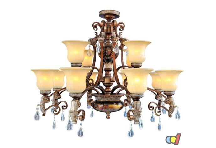 吊灯安装装饰效果图6