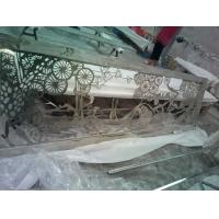 中式古典镂空花纹不锈钢屏风