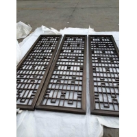 顶级的工艺制作无焊点的拉丝黑钛屏风隔断装饰
