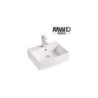 潮州厂家酒店家居卫生间洗手池优质纯白长方形一体艺术陶瓷面盆