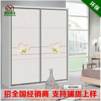 专利技术水晶烤漆封釉衣柜门 微晶镜面移门 导轨门