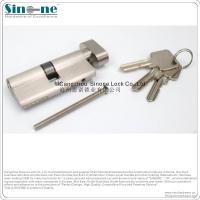 德国高端单双边镀铬室内门锁芯欧标铜镍拉丝锁芯