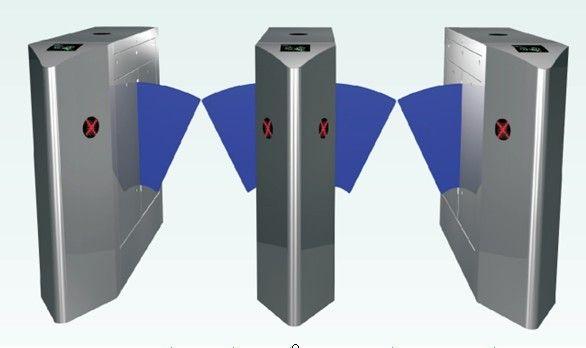 双机芯地铁通道闸机 商务楼小区考勤指纹识别门禁系统