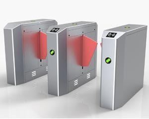 翼闸双机芯双通道 地铁景区智能人行通道闸 门禁系统闸机
