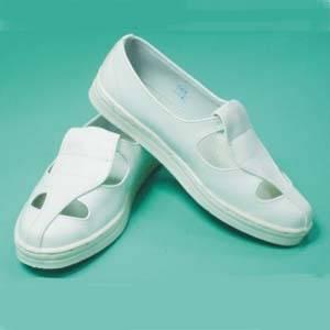 防靜電四孔PU皮革鞋 拖鞋-- 天開防靜電地板