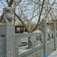 临沂通达石材芝麻灰石栏杆,桥梁栏杆,河边栏杆,山东雕刻石栏杆