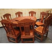红木餐桌 大果紫檀福禄寿餐桌