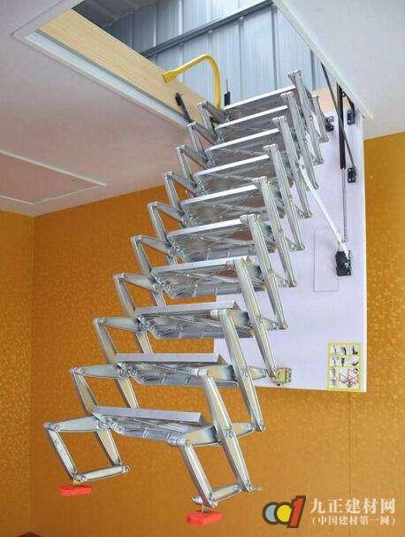 阁楼伸缩楼梯如何选购?伸缩楼梯优缺点图片