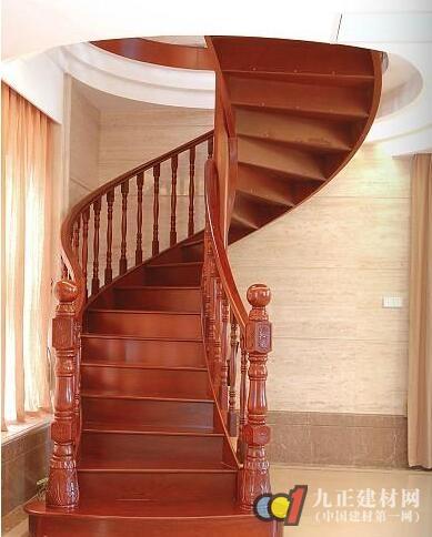 红木楼梯扶手装修效果图3