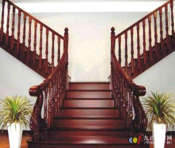 红木楼梯扶手装修效果图4