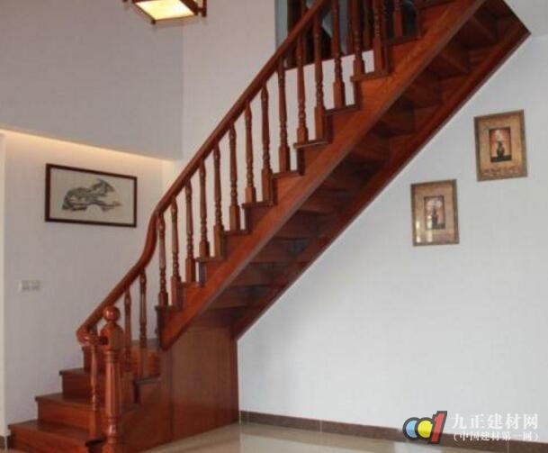 红木楼梯扶手装修效果图5