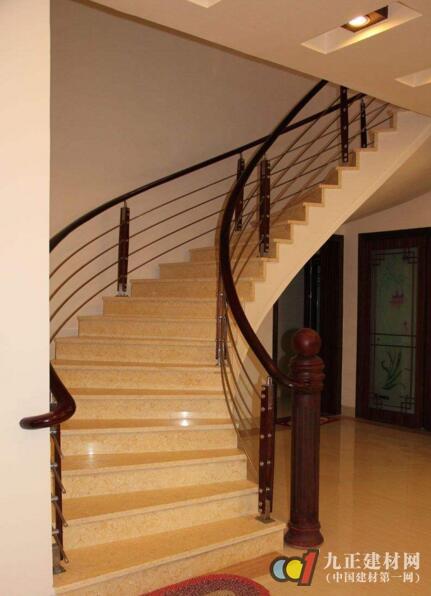 红木楼梯扶手装修效果图6
