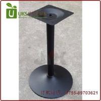 深圳高品质黑色铸铁圆盘餐桌台脚 不锈钢西餐桌台脚