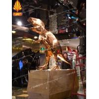 广州尚雕坊玻璃钢电镀雕塑产品 电镀恐龙造型企业吉祥物