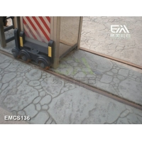 印花地坪,压印混凝土,艺术压模材料模具来自上海啦