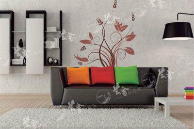 武汉硅藻泥|现代简约风格之单花系列