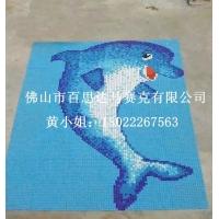 游泳池拼图海豚图案