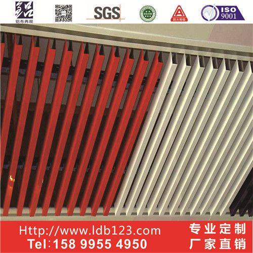 旭鑫商场U型吊顶方通 木纹铝方通吊顶材料