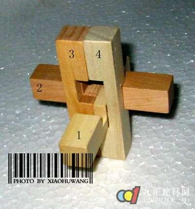 孔明锁组成结构 孔明锁6根解法