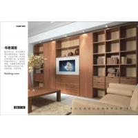 中式风格客厅整面墙书柜