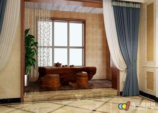带阳台的客厅窗帘挂法