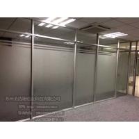 苏州双玻带百叶隔断 高隔断 玻璃隔断 隔断墙 圣浩隆铝业