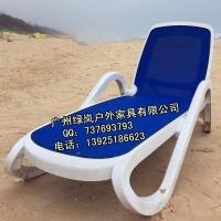 户外游泳池休闲躺椅|露天阳台塑料躺椅|室外休闲躺床