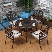 户外家具品牌舒纳和铸铝桌椅防腐防晒户外桌椅