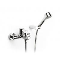 特佳挂墙式浴缸淋浴龙头连软管及手持花洒