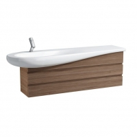 劳芬卫浴ALESSI 1600长一体台上盆,配单孔龙头,隐藏