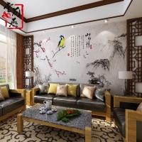 堂前燕中式艺术瓷砖背景墙清远专卖店