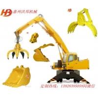 挖掘机加长臂_挖掘机岩石臂_挖机拆楼臂_挖掘机抓木器_抓钢器