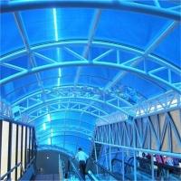 天桥遮阳棚、PC耐力板制作材料、颜色、造型、结构可定制