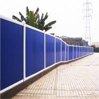 环保型阳光板围挡、施工安全围挡、坚固稳定、整洁美观